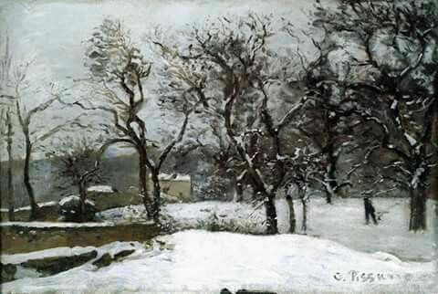 Snow at Louveciennes. 1870. Camille Pissaro ( 1830-1903 ).