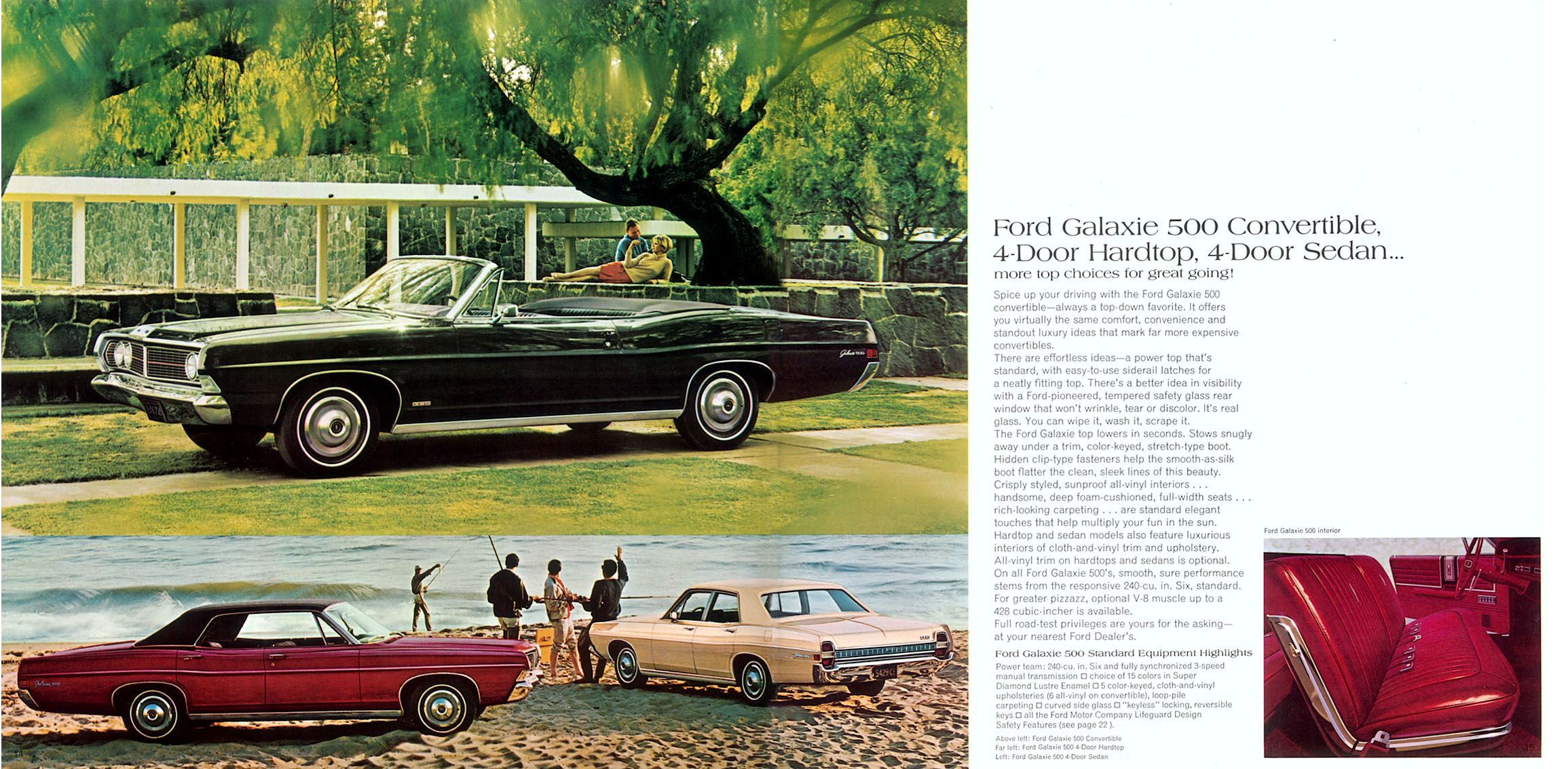Country Squire Wagon 1969 Ford LTD Galaxie 500 Deluxe Sales Brochure Catalog