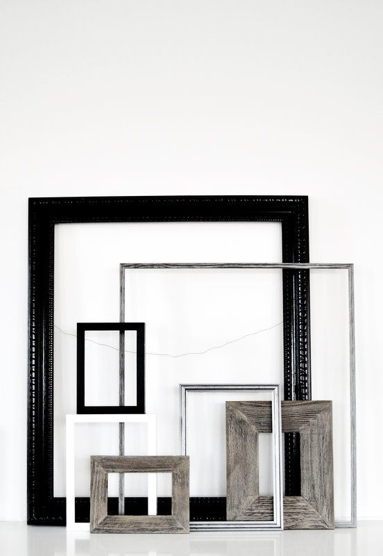 multiple frames leaned on a shelf? | all about the frames ...