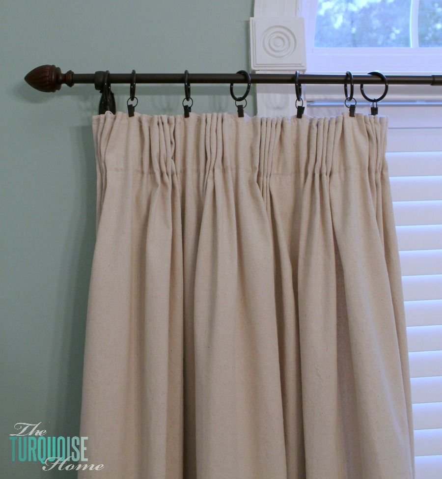 DIY Easy Pleated Curtains {from Sloppy To Structured}