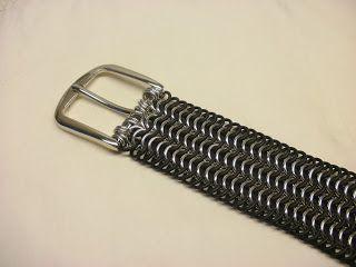 Chain Maille Belt in progress