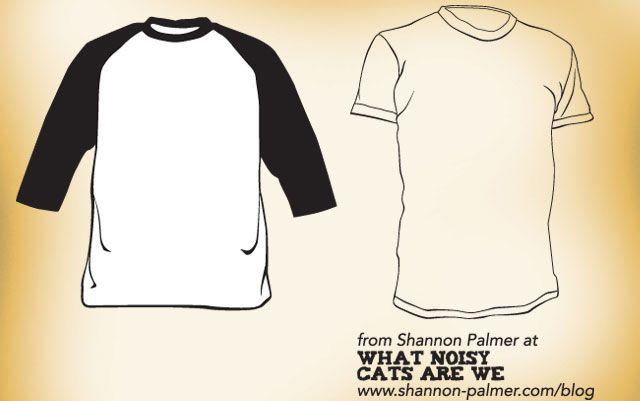 Download Raglan And Short Sleeve T Shirt Template Designs Black Longsleeve Reglan Shortsleeve Vector White Shirt Template Template Design Clothing Mockup