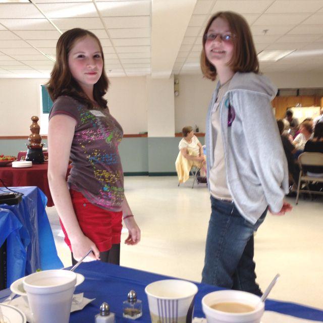 Liv and Morgan at the women's banquet