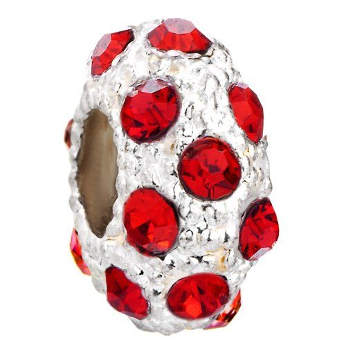 Pugster White Ball July Birthstone European Beads Fit Pandora