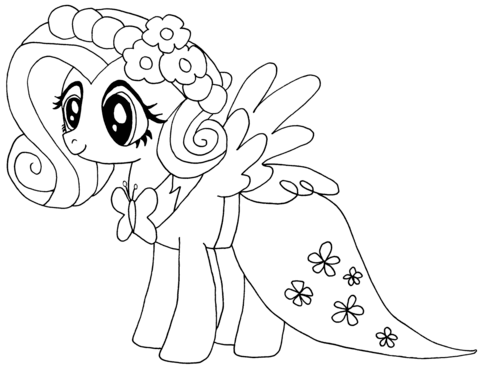 My Little Pony Fluttershy Coloring Page From My Little