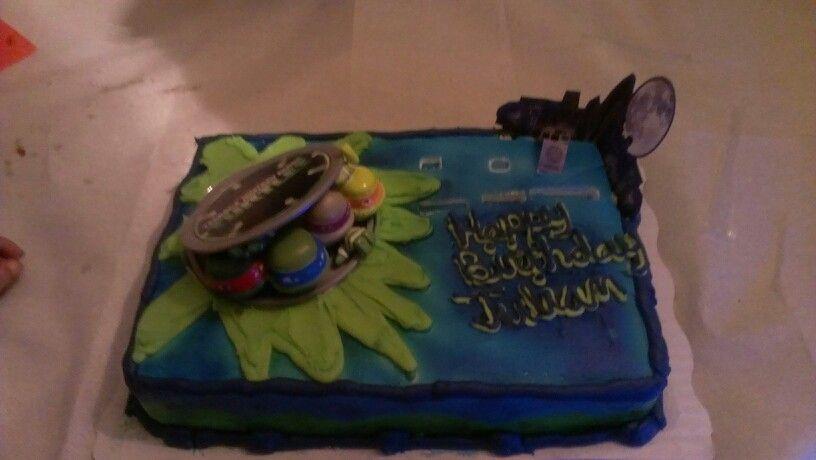 Tmnt Cake From Walmart Ninja Turtle Birthday Party Third
