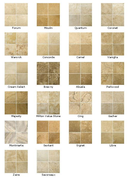 Travertine colors kitchen floors pinterest Different design and colors of tiles