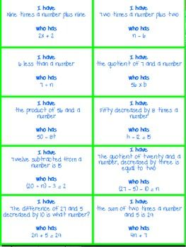 Translating Words Into Math Writing Expressions And Equations