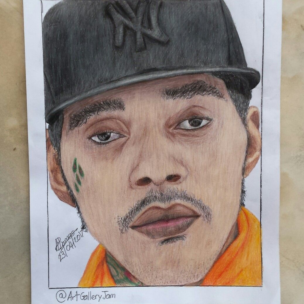 Drawing of vybz kartel gaza nation art dancehall legend