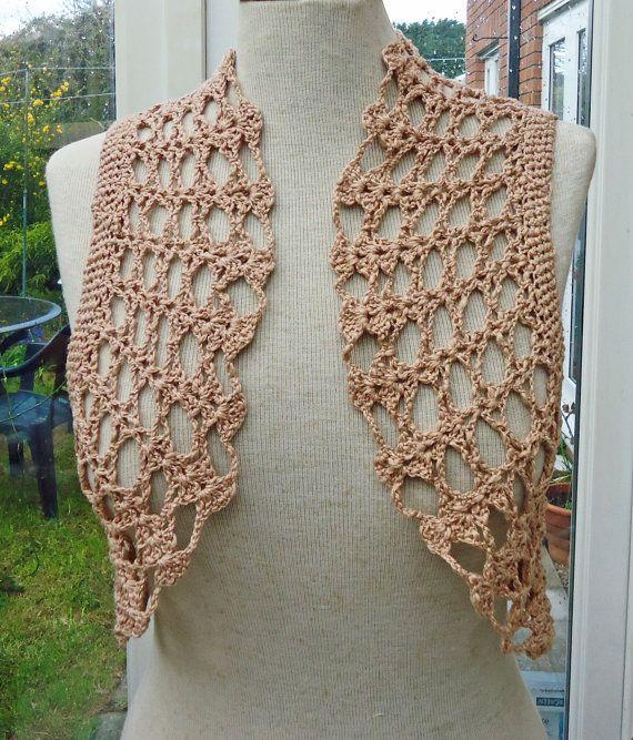 Red Crochet Bolero / Cotton Bolero Jacket / Crochet by evefashion ...