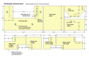 Planes de pantógrafo en 3-D