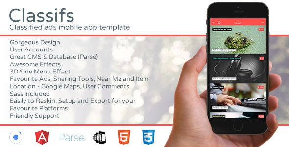 cool Classifs - Classified Ads Mobile App Template Themes