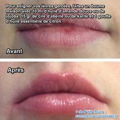 comment fabriquer un baume natunerel pour protéger et soigner les lèvres dessechées et gercées en permanance