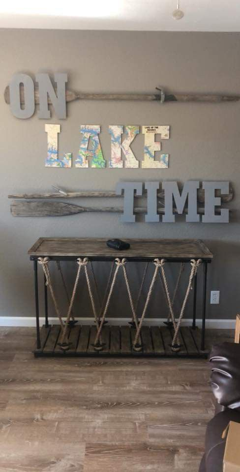 Auf Kabinenzeit Riesig An Der Wand Der 2 Seite Kellerwand Lake Cabin Decor Lake House Signs Lakehouse Decor