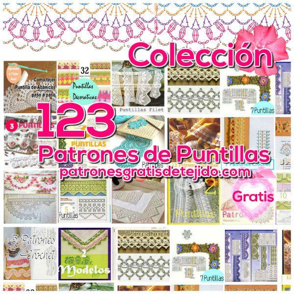 patrones crochet de puntillas 123 modelos | libros y motivos ...