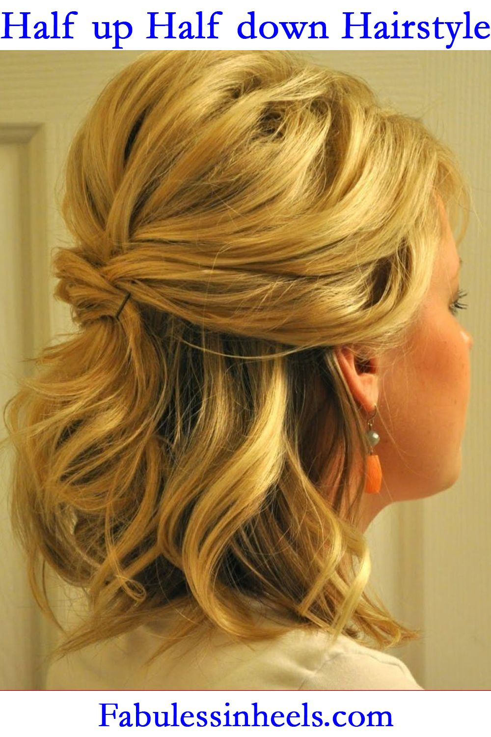 Half up Half down Hairstyle for Bridal 2019 for Medium ...