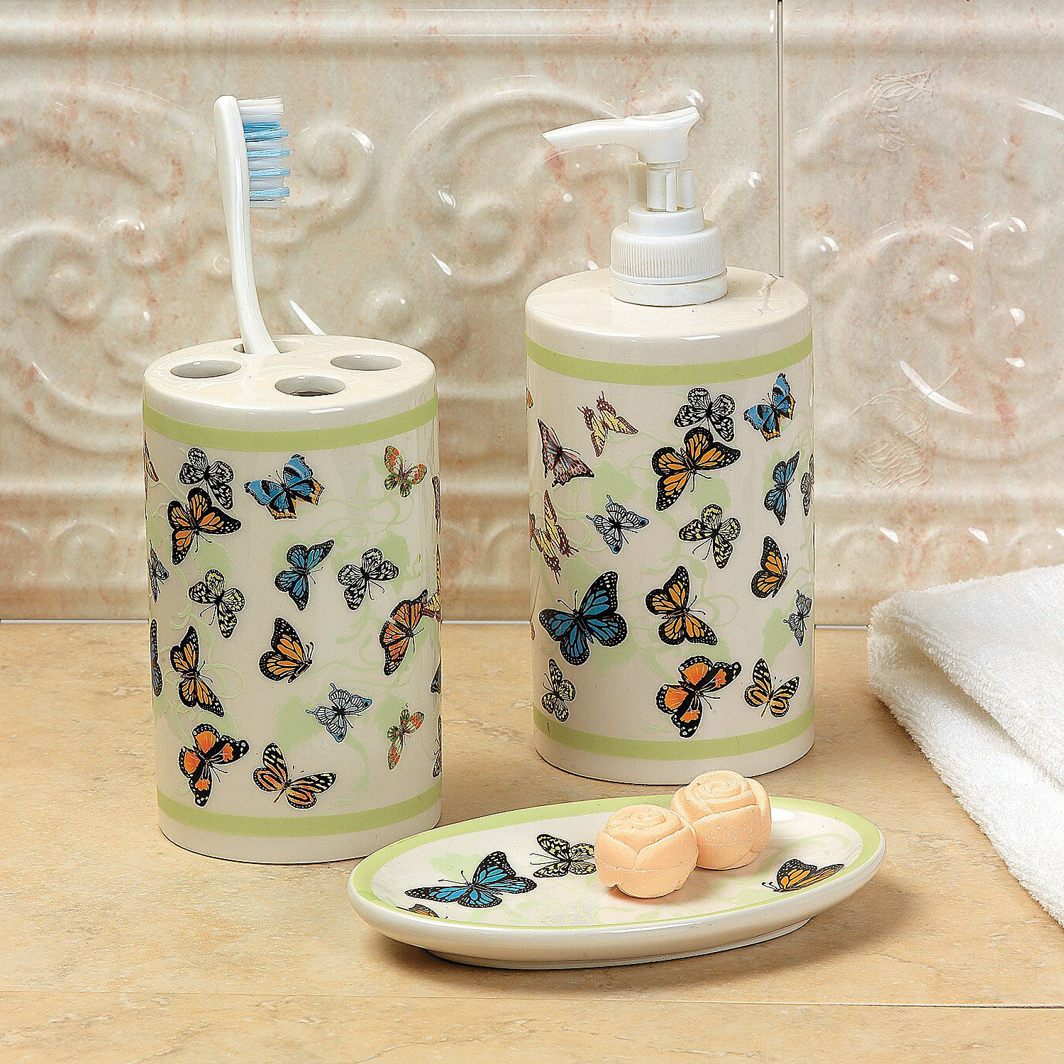 Butterfly bathroom accessories orientaltrading for the home