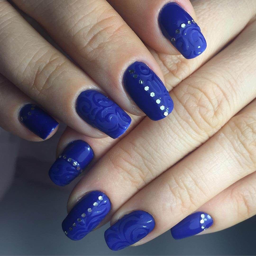 Amazing Blue Nail Art Ideas 2017 | Blue nails and Royal blue nails