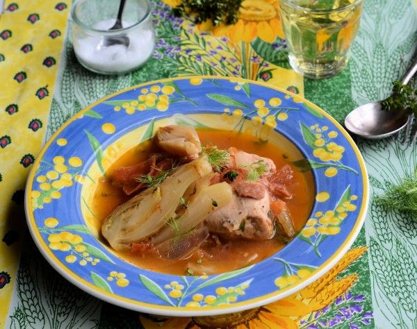 Provençal Chicken and Fennel Braise   Lavender and Lovage   French 5:2 Diet Fast Day Recipe and Monday Meal Plan   http://www.lavenderandlovage.com