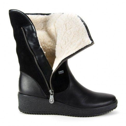 Kozaki Rieker Y4481 00 Czarne Boots Chelsea Boots Shoes