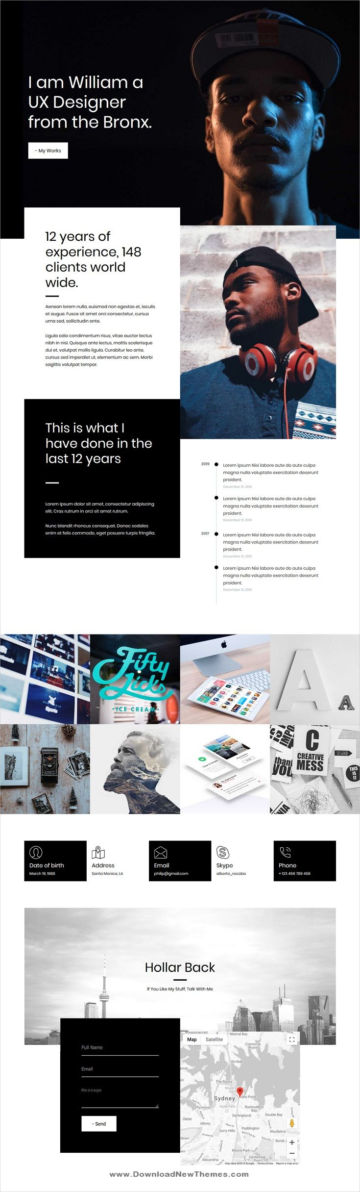 Mebo Is A Clean And Modern Design Responsive Html Template For Creative Resume Cv And Portfolio Showcase Web App Design Web Design App Design Inspiration