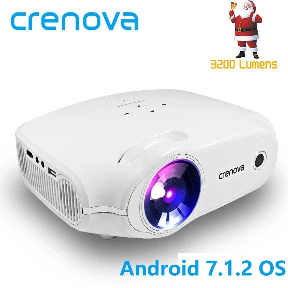 Barato CRENOVA 2018 Mais Novo LED Projetor Para Full HD 4