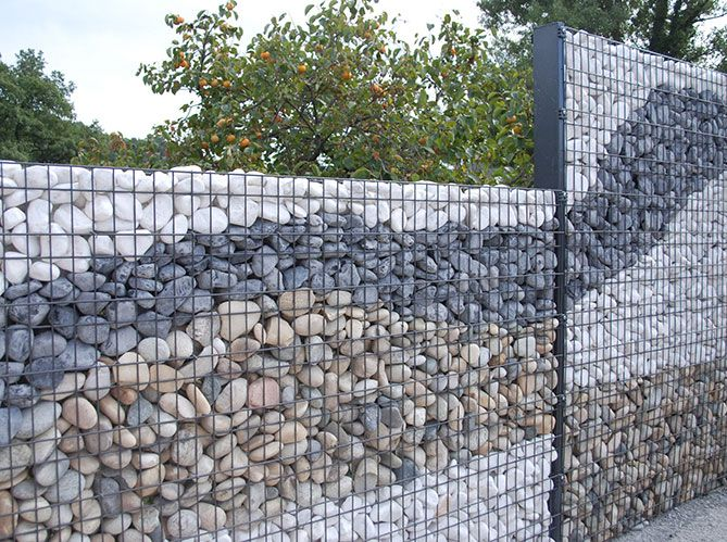 les atouts du gabion elle d coration home pinterest emploi jardins et am nagement de jardin. Black Bedroom Furniture Sets. Home Design Ideas