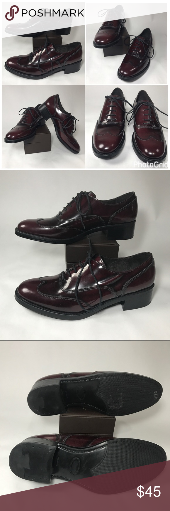 ccabe8159f4 Boemos Patent Leather Oxford Burgundy Shoes Boemos Patent Leather Oxford  Burgundy Dark Wine Shoes Size 36 Made In Italy Excellent like New Boemos  Shoes ...