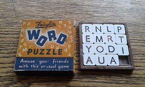 Details About Fairylite Word Puzzle 1960s Vintage