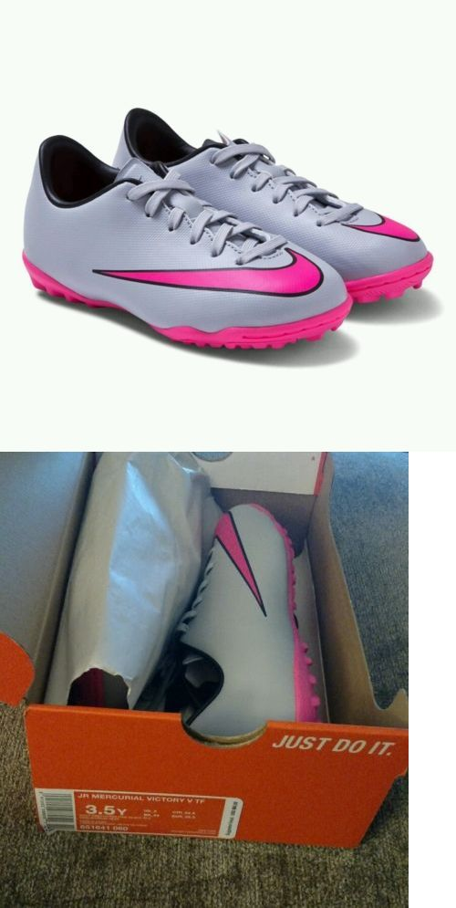 Youth 159177: New Nike Mercurial Victory V Tf Turf Soccer Shoes Gray Pink  651641-