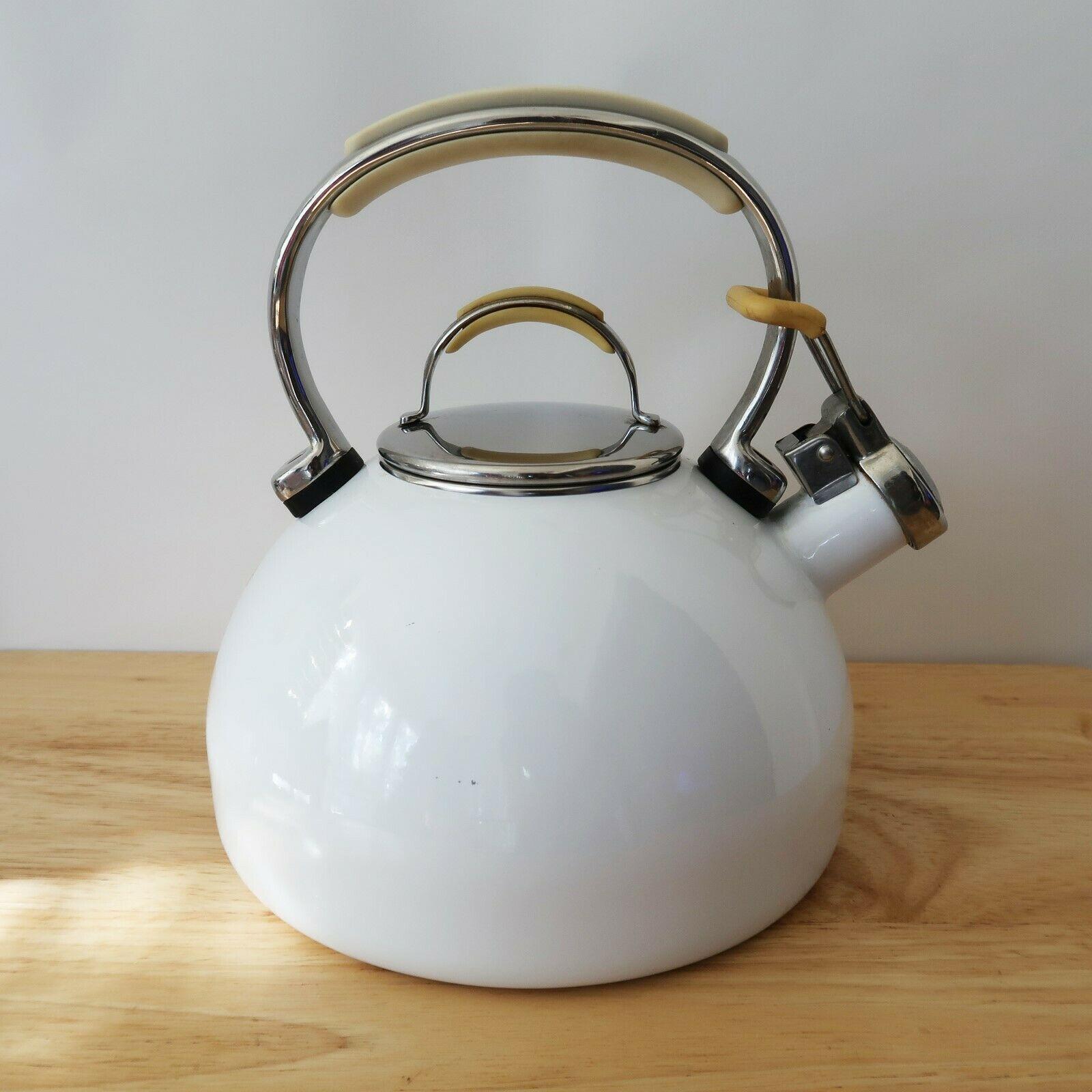 Kitchenaid 2 qt 19 l whistling tea kettle pot white