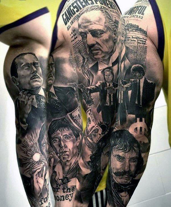 Italian Mob Tattoo Designs Clipart Library