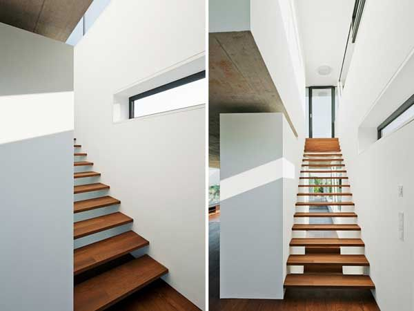 Long Tall And Narrow Plak Residence Stairways And Shelving