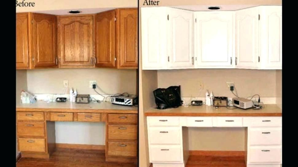 Stunning Distressed Oak Cabinets Painting Oak Trim White Before And After Painting Painting Kitchen Cabinets White Kitchen Cabinets On A Budget Timber Kitchen