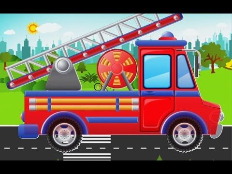 fire truck|tow truck|addicting games|kids vehicles compilation