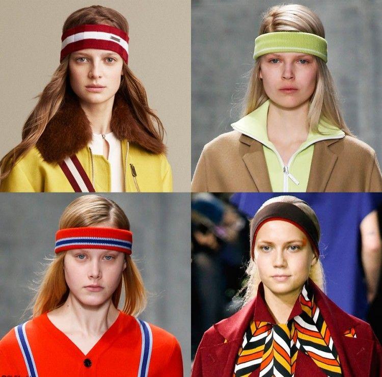 80er Frisuren Strinband Variante Vintage Look Farbig Outfits Modeshow 80er Frisuren Disco Frisuren Trendige Frisuren