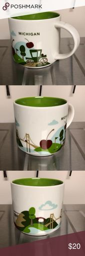 """Photo of Starbuck's """"You Are Here"""" mug Michigan All things Michigan depicted on a wh …"""