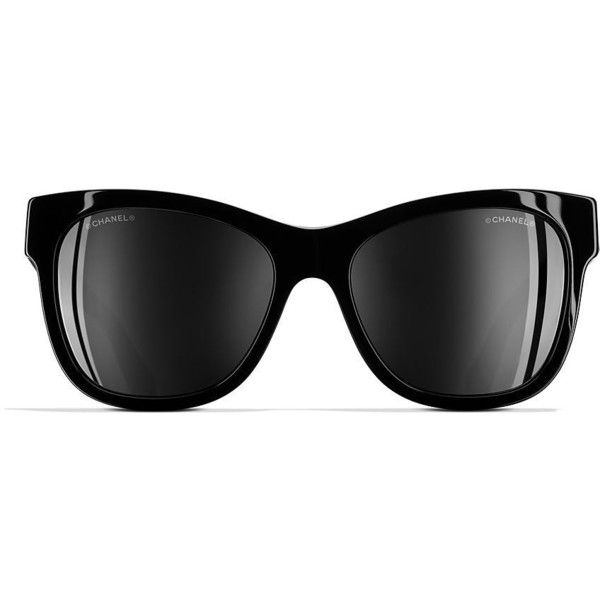 e62b4e7856 CHANEL Square Sunglasses 56 Black   Black Sunglasses