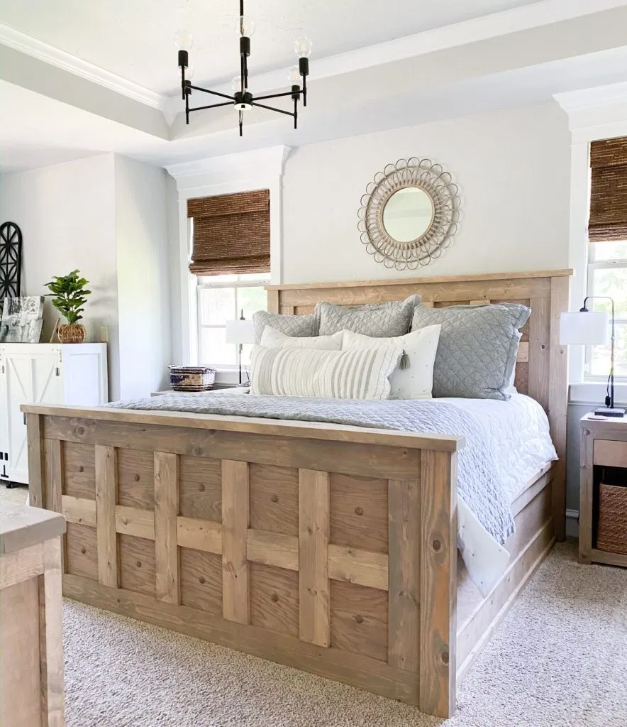 DIY King Panel Bed by Shanty2Chic! Free plans and howto