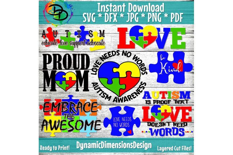 Digital Download File Autism PDF PNG JPG Sublimation Clipart Autism Heart Design