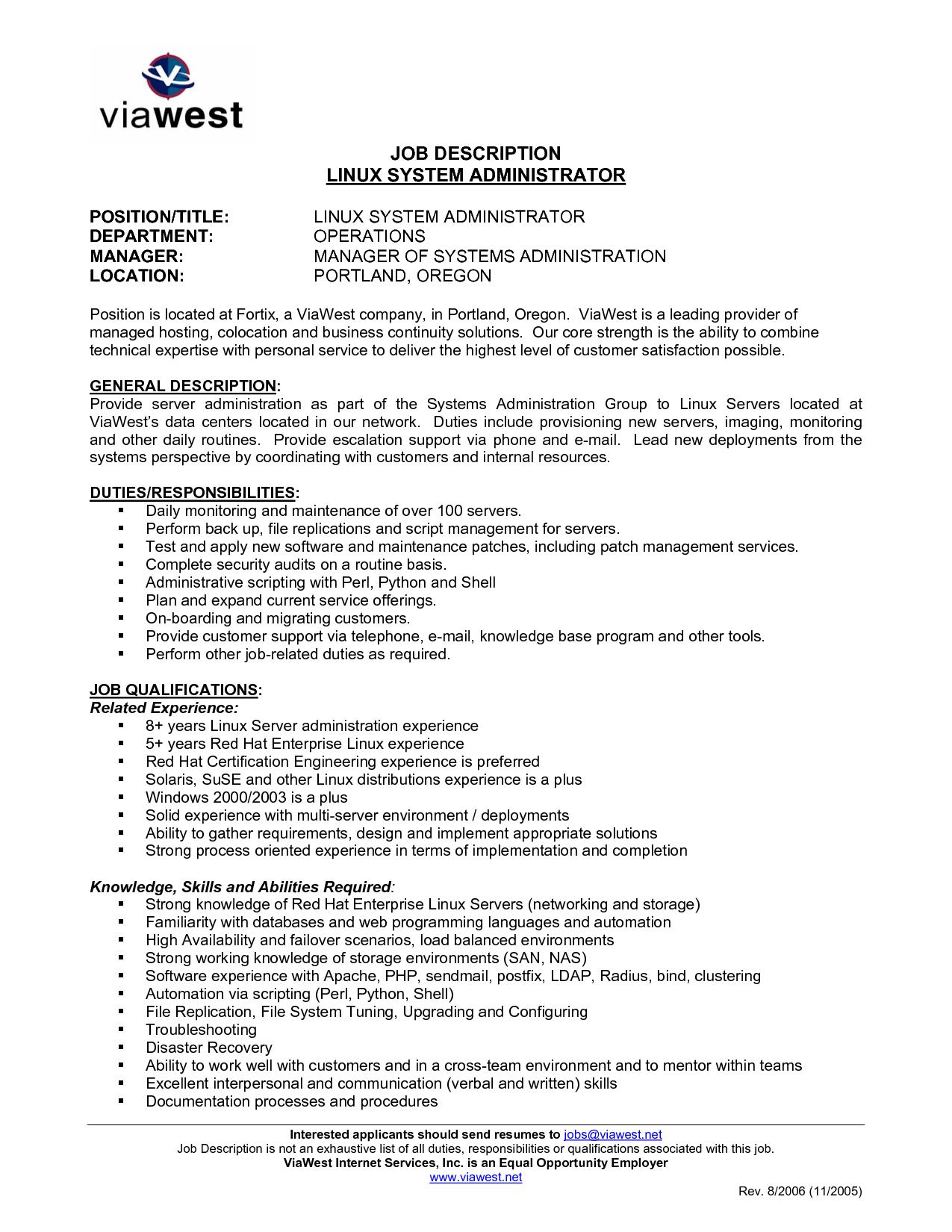 Sample Resume System Administrator Job Sle Description Pravin Uttam Kharathttps Mcpvirtualbusinesscard Vbcserver System Administrator Resume Resume Format