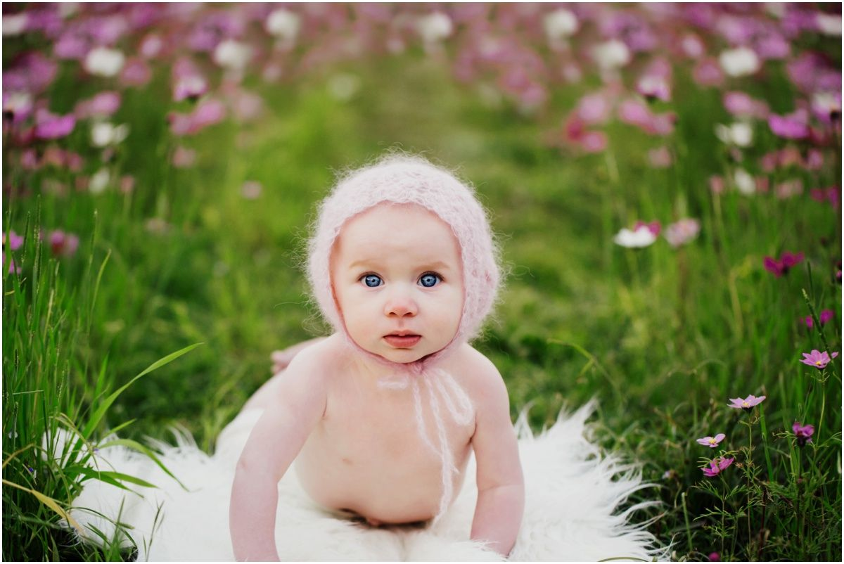 Okinawa Baby Photographer milestone bonnet