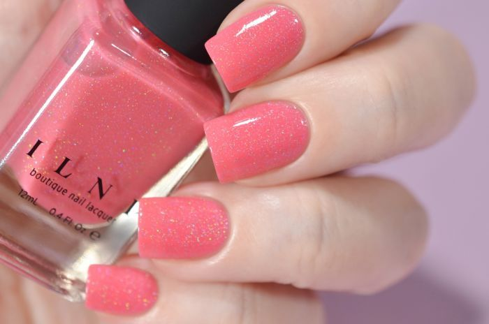 Paper Heart - Brink Pink Holographic Nail Polish by ILNP