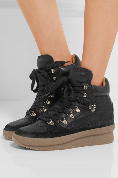 Cheap Limited Edition Cheap Sale Sast Brent wedge heel sneakers - Black Isabel Marant 2afXws5S