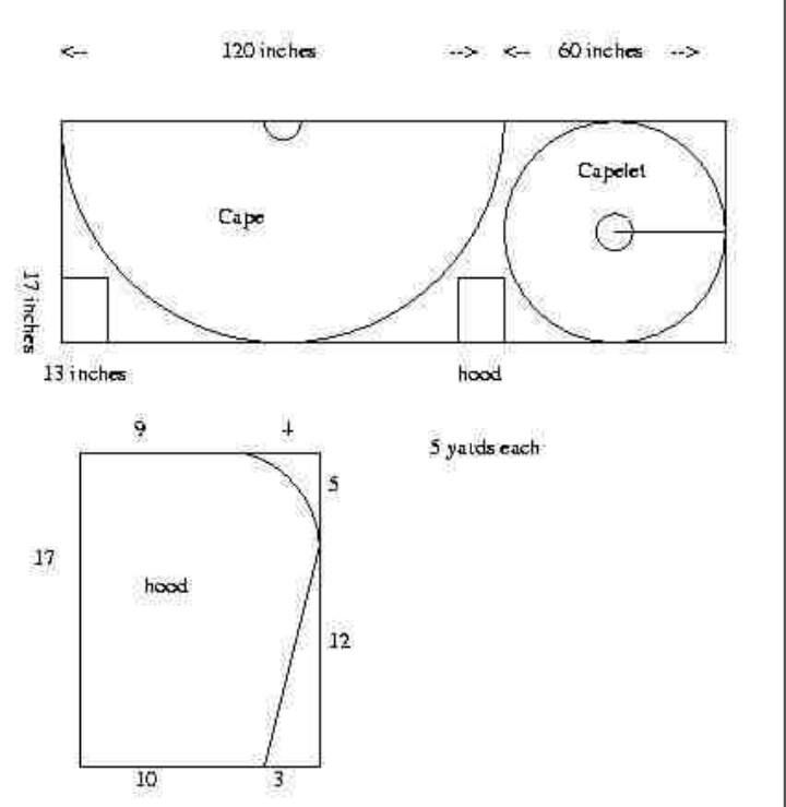 cape with caplet pattern larp costume basics pinterest. Black Bedroom Furniture Sets. Home Design Ideas