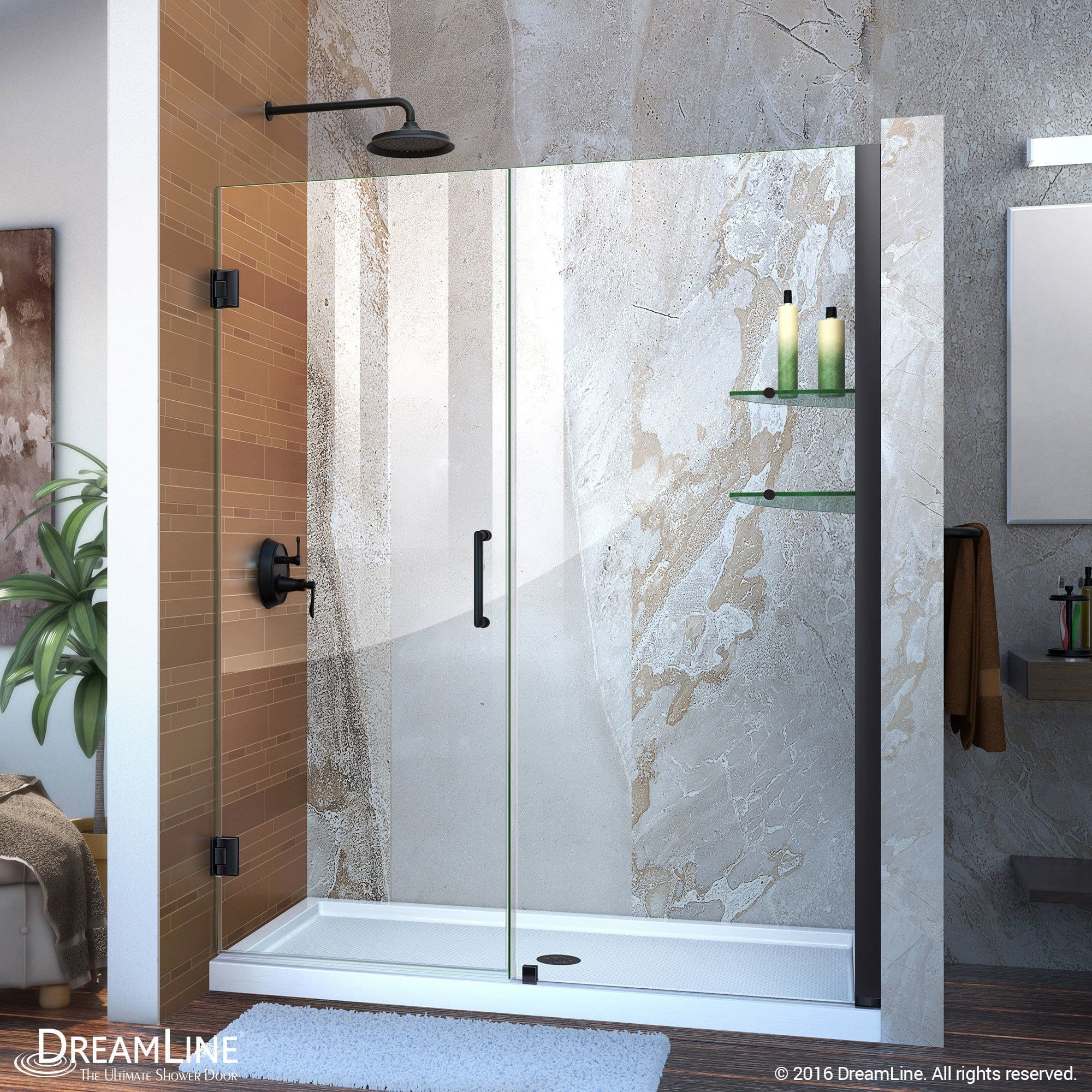 Overstock Com Online Shopping Bedding Furniture Electronics Jewelry Clothing More Black Shower Doors Shower Doors Frameless Hinged Shower Door