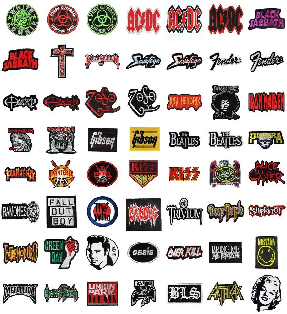 Embroidered Patch Iron Sew Logo OASIS music rock band heavy thrash metal woven