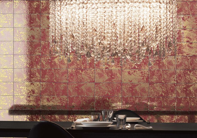 Double Fired Ceramic Tiles With Pure Gold Texture Preziosa From Bardelli