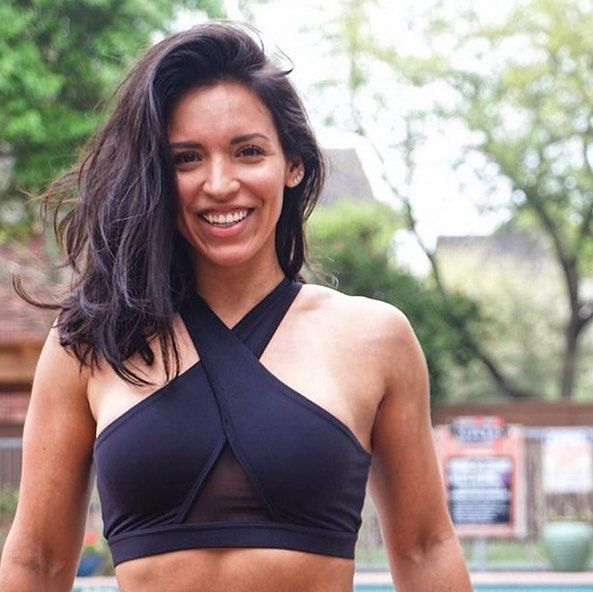 f6e964fcd10 A smile is happiness you ll find right under your nose! 😁      mytrainercarmen in our Dutchess Sports Bra! Shop it at publicmyth.com