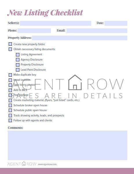get organized for real estate success with agent row forms
